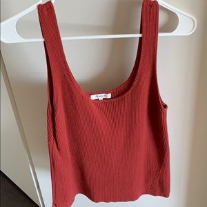 Madewell red tank sized large